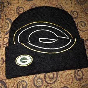 Green Bay Packers beanie skull cap, knit, unisex